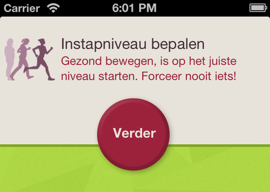 Slimrun in beweging komen iPhone-app