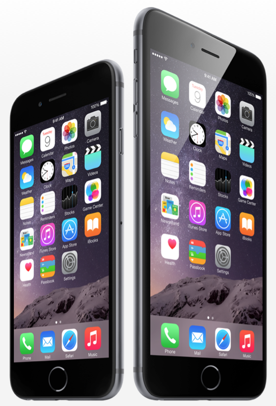 iPhone 6 iPhone 6 Plus side by side