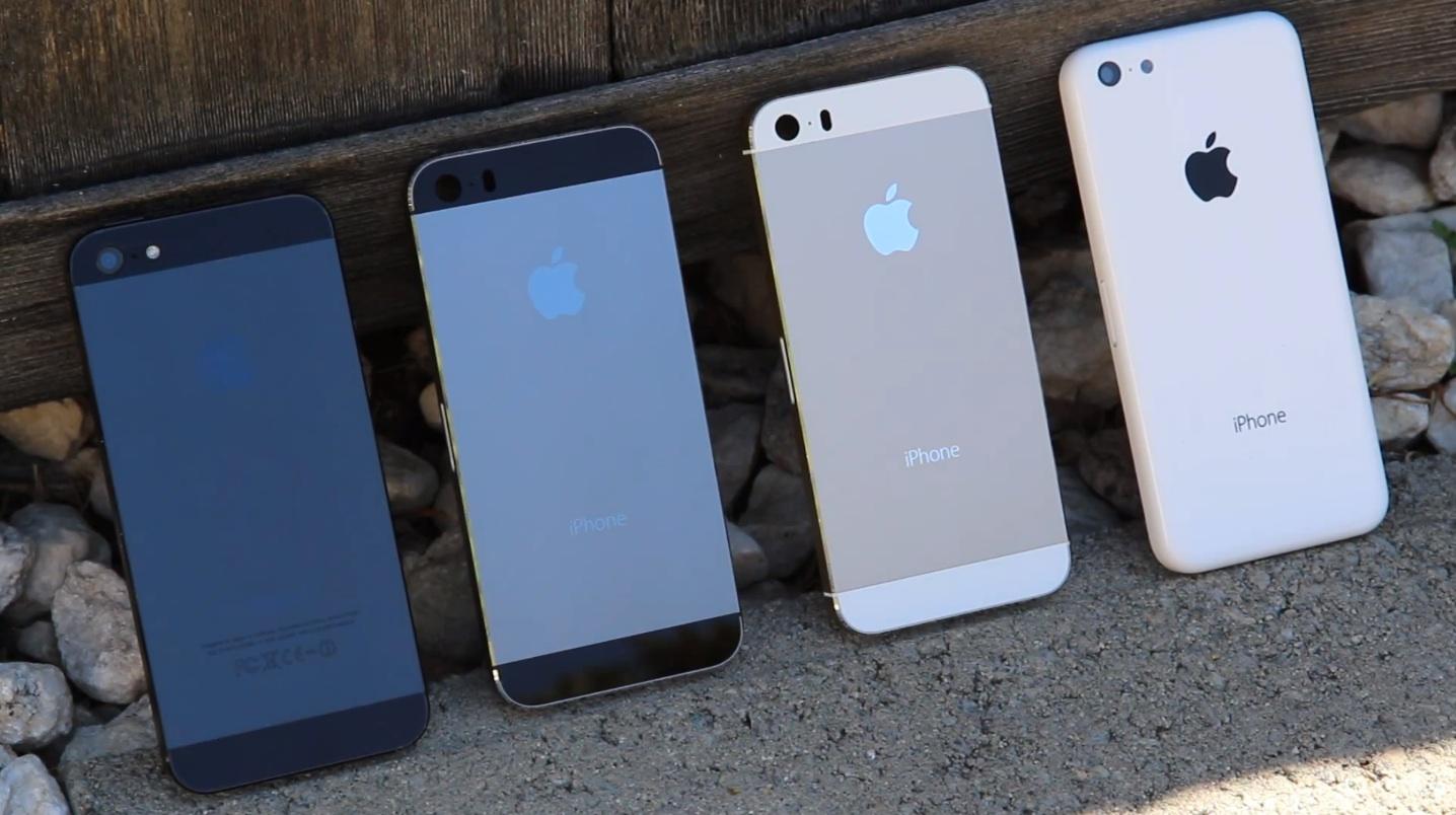 iPhones (iPhone 5, graphite gold iPhone 5S, iPhone 5C)