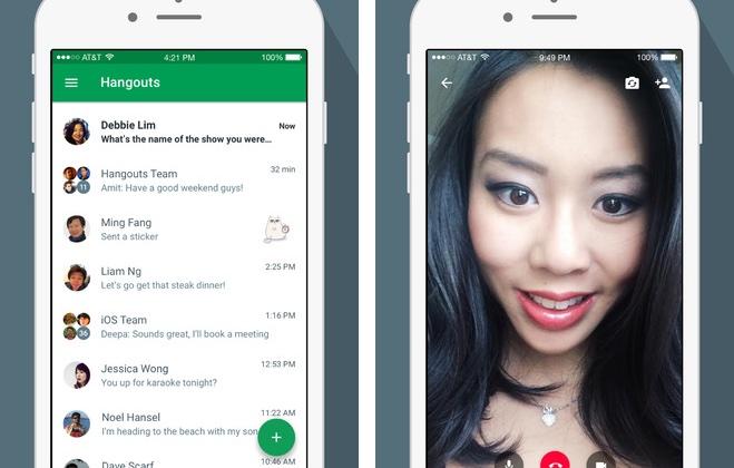 Google Hangouts 4.0 for iOS iPhone screenshot 001