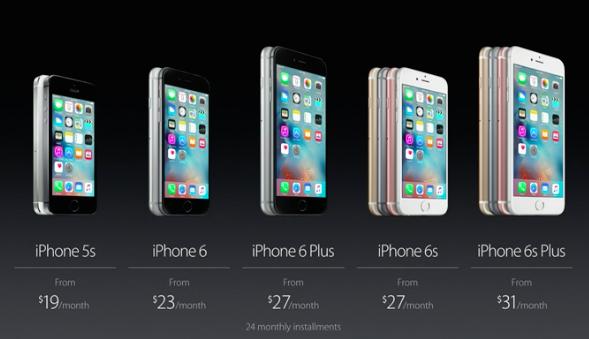 iPhone 6s installement plan