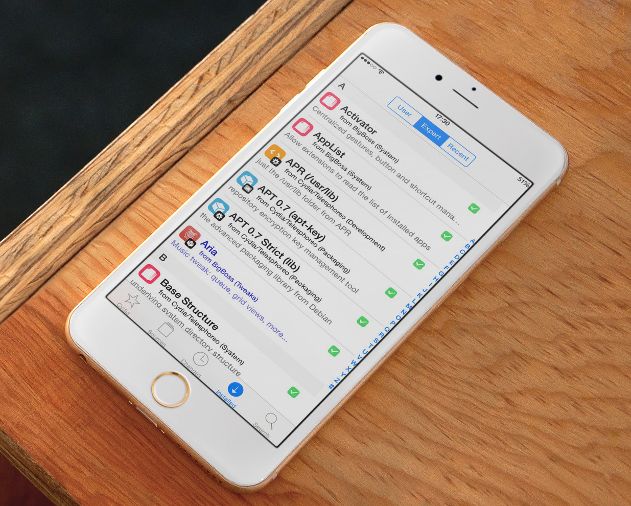 Cydia Expert mode iPhone 6