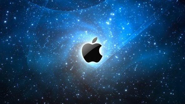 Apple logo (space 001)
