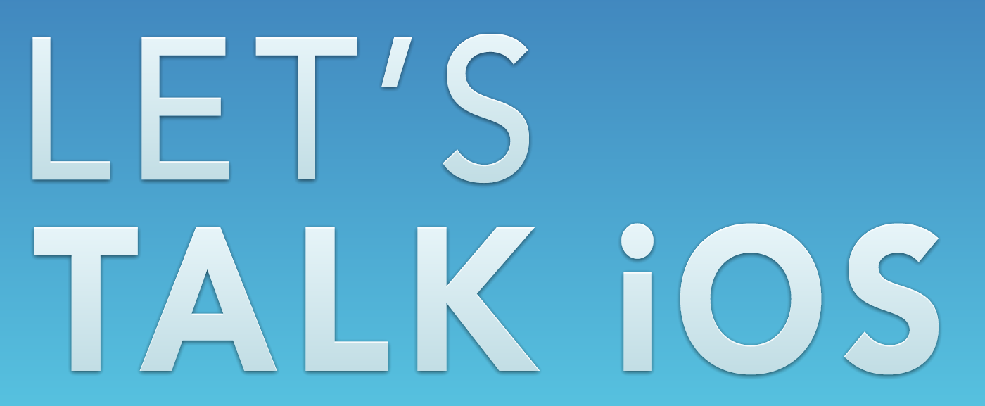 Let's Talk iOS banner