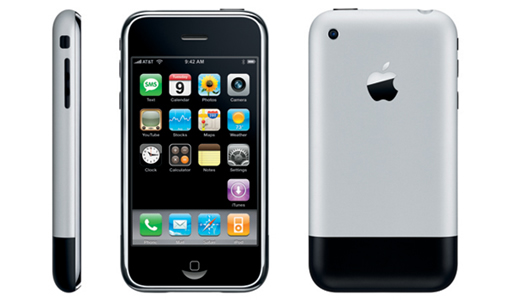 Original iPhone (three-up, profile, front, back)